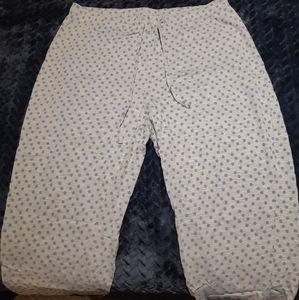 Cotton capri PJ bottoms
